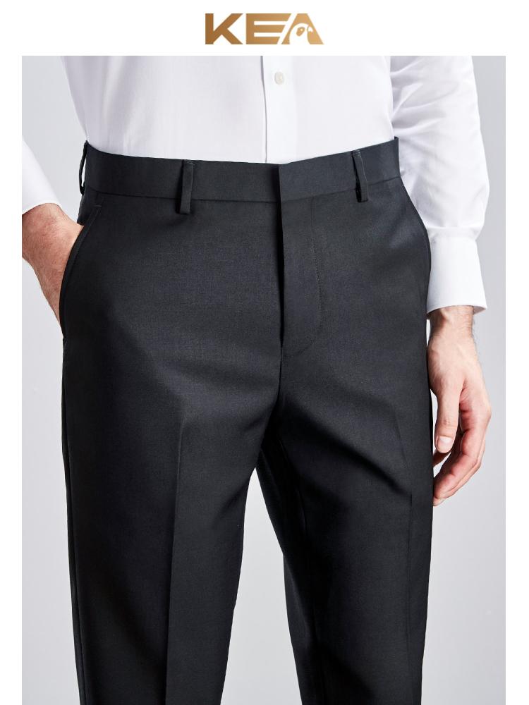 男士西裤修身秋季黑色商务西服正装裤子男休闲职业西装裤直筒免烫
