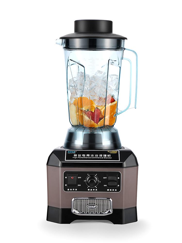 瑟诺SJ-M60A商用沙冰机奶茶店冰沙静音搅拌大功率现磨豆浆榨汁机