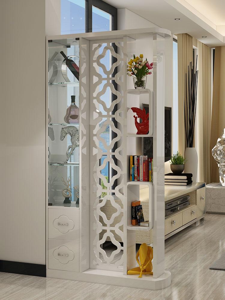 新柜尔 客厅双面玄关烤漆隔断柜间厅储物酒柜现代简约屏风装饰柜