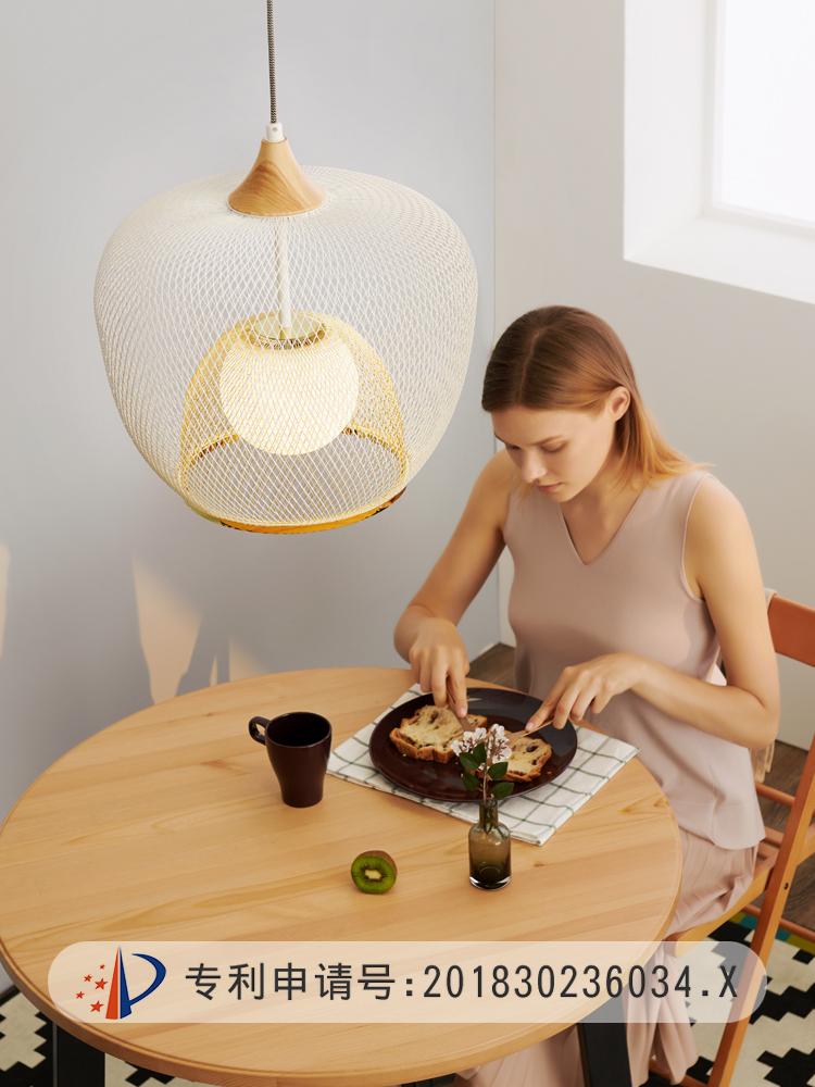 北欧宜家餐厅灯吊灯现代简约创意工作室卧室吧台餐桌单头日式灯具