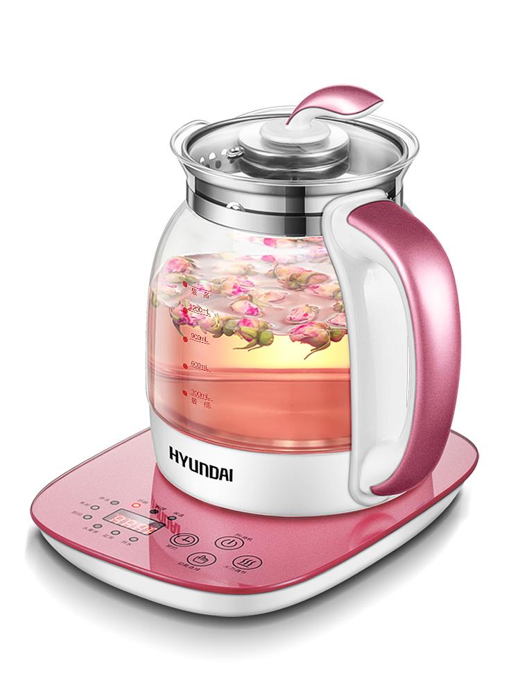 韩国现代养生壶全自动加厚玻璃多功能煮茶器电热烧水壶养身迷你