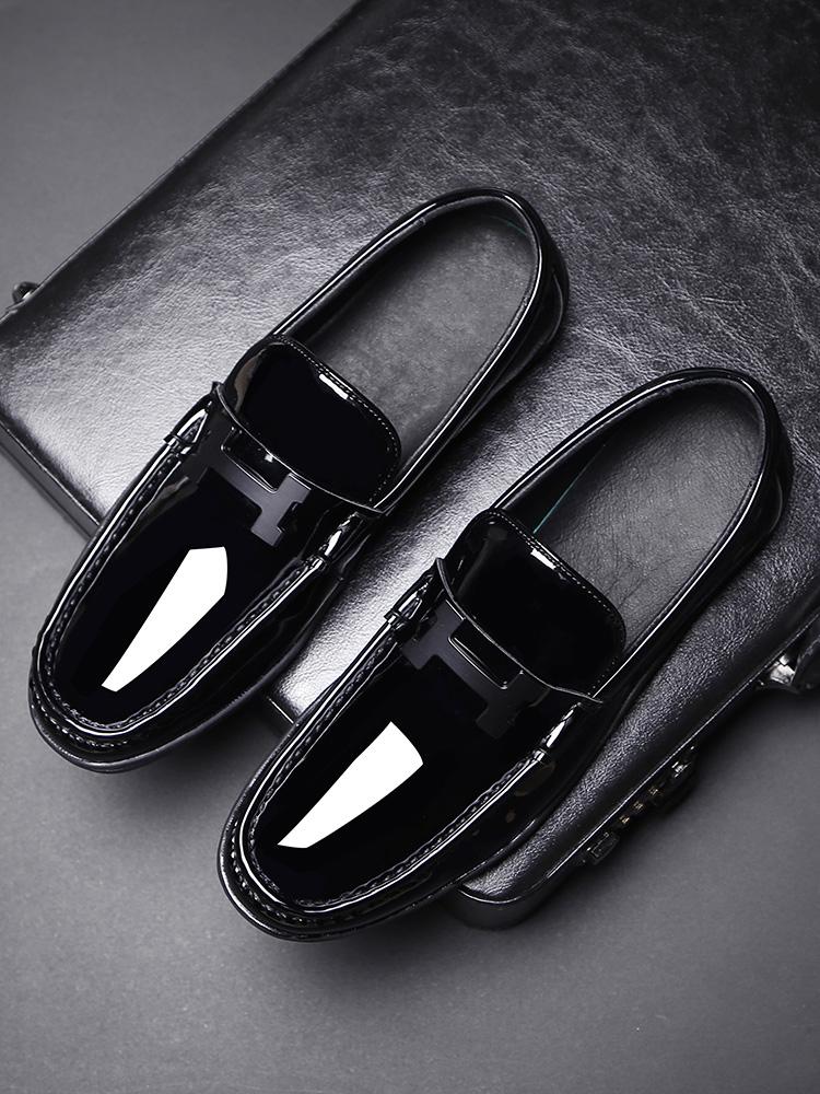 2018新款秋季男鞋英伦皮鞋韩版潮流男士休闲豆豆鞋百搭社会鞋子男