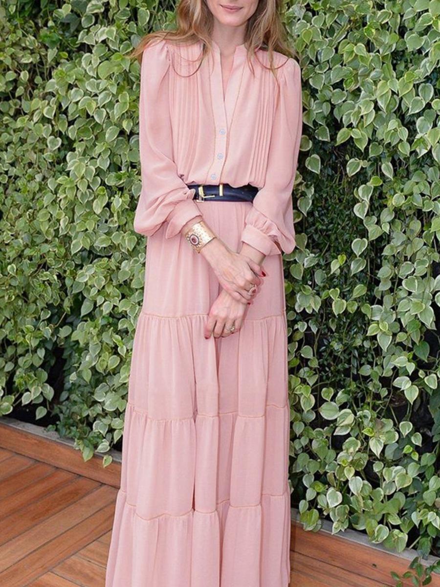 套装女秋2018新款时尚纯色气质连衣裙洋气系带拼接长裙两件套装裙