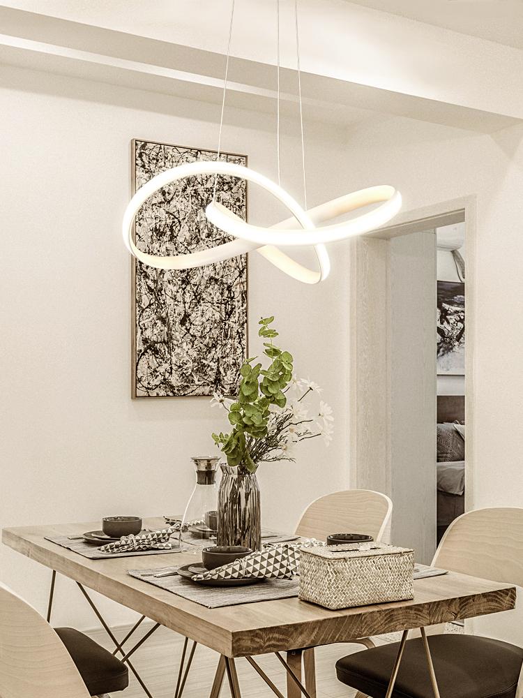 北欧吊灯艺术餐厅灯吧台创意个性后现代简约风格客厅卧室饭厅灯具