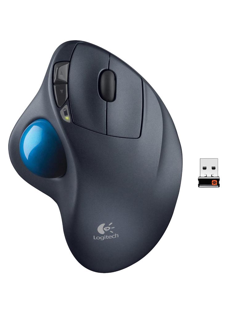 罗技m570无线优联轨迹球鼠标人体工学创意笔记本电脑usb无限鼠标专业绘图前进后退自定义