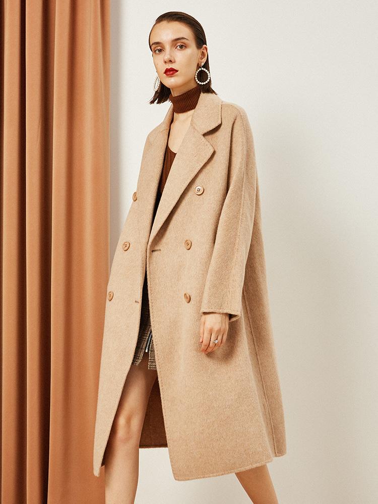 双面羊绒大衣女中长款2018新款冬季羊毛呢子宽松大码显瘦毛呢外套