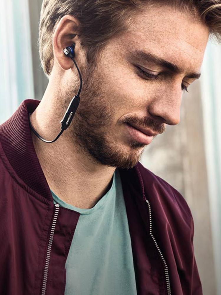 SENNHEISER-森海塞尔 CX 6.00BT蓝牙耳机入耳式运动跑步无线降噪 声海挂颈式重低音苹果7 8P手机深海赛尔耳机