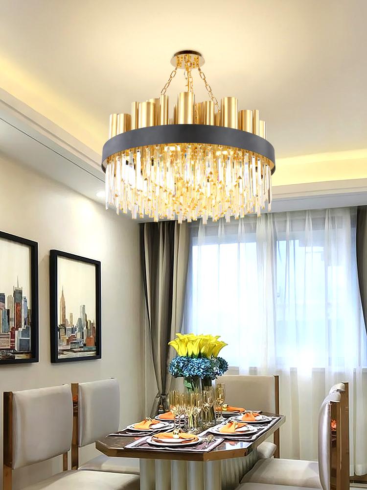 文联港式客厅餐厅灯具大气时尚简约创意设计师轻奢后现代水晶吊灯