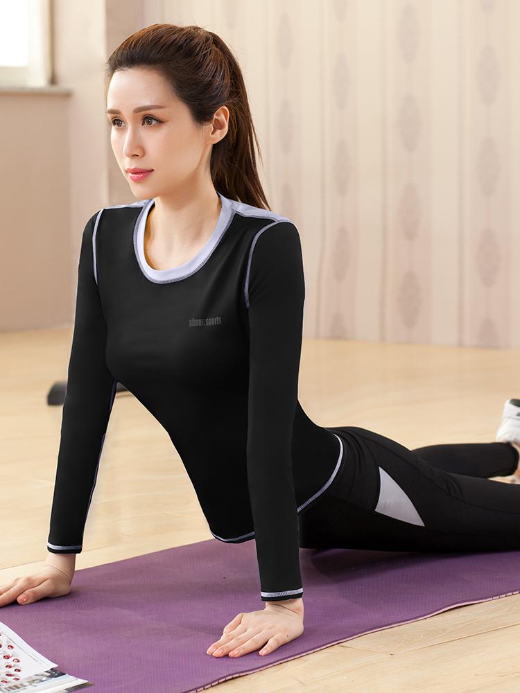 瑜伽服套装女2018秋冬季新款健身房专业运动初学者跑步健身服套装