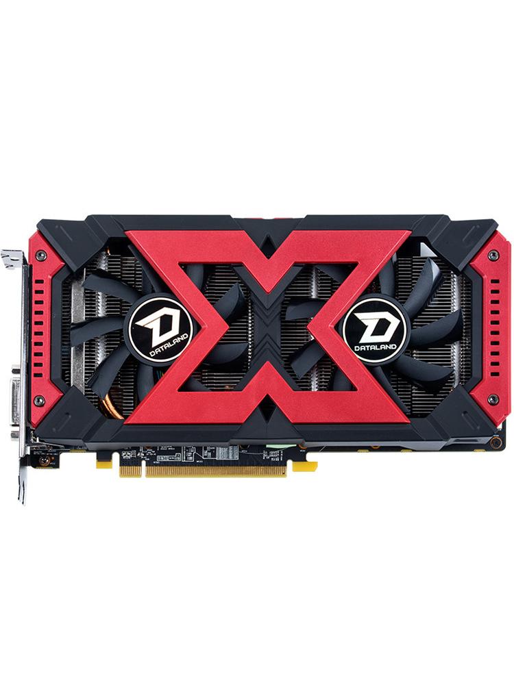 迪兰恒进RX570X-Serial 4G战将 电脑游戏独立显卡