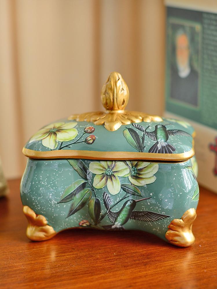 Europe type restoring ancient ways ceramic storage tank furnishing articles American creative receive candy jar jar jewelry box home decoration decoration