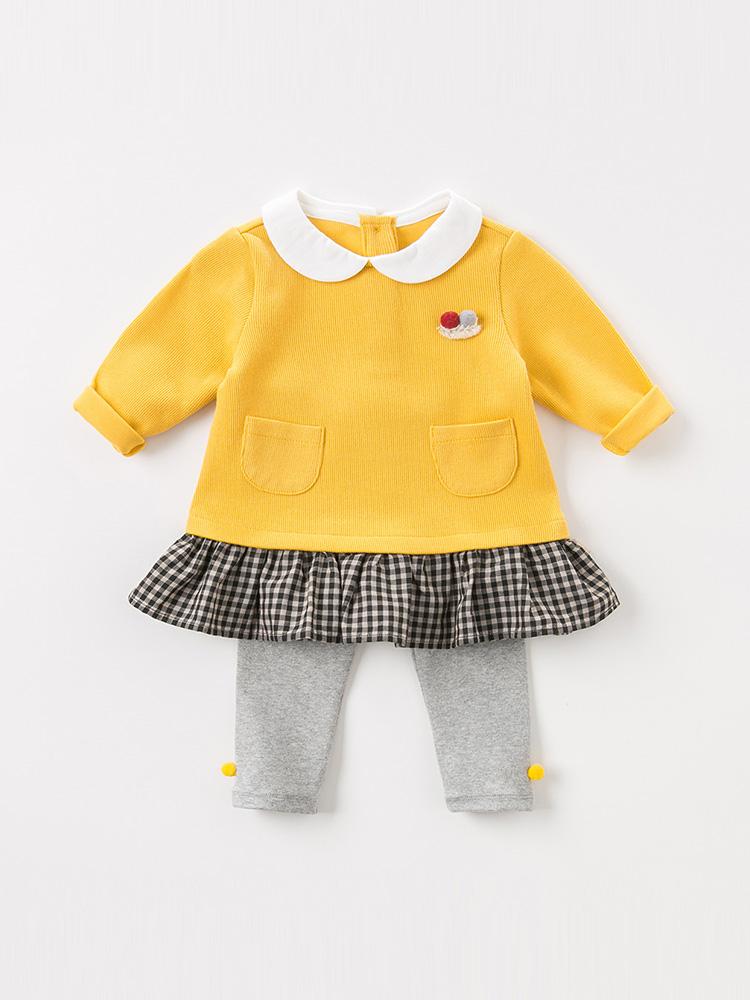 davebella戴维贝拉2018秋季新款女童套装 宝宝休闲套装DBZ8067