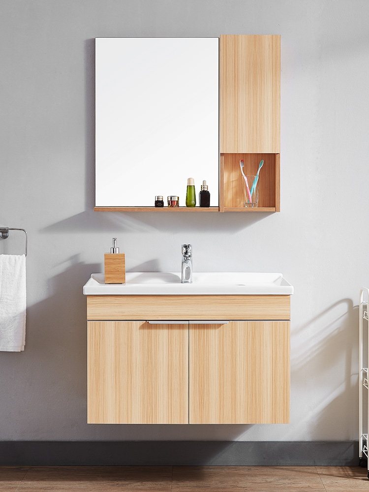 浪鲸北欧实木浴室柜组合现代简约洗手盆洗脸盆卫生间洗漱台卫浴柜