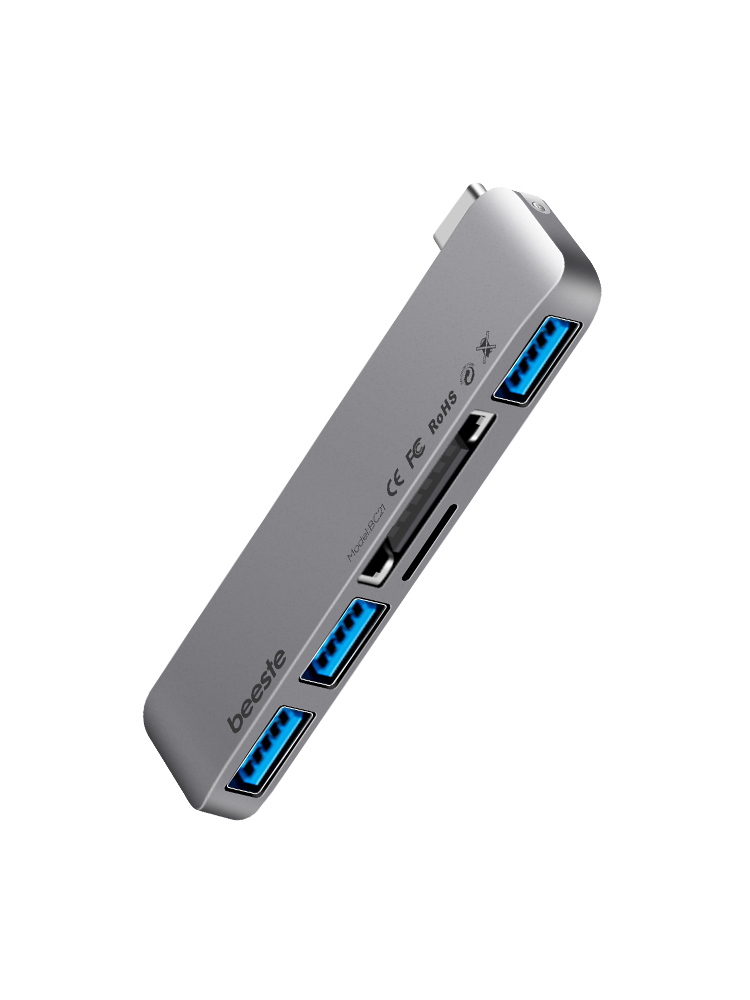 贝视特type-c扩展坞小巧贴合 MacBook Pro转接头多功能小米华为笔记本配件USB拓展hdmi投影仪苹果电脑转换器