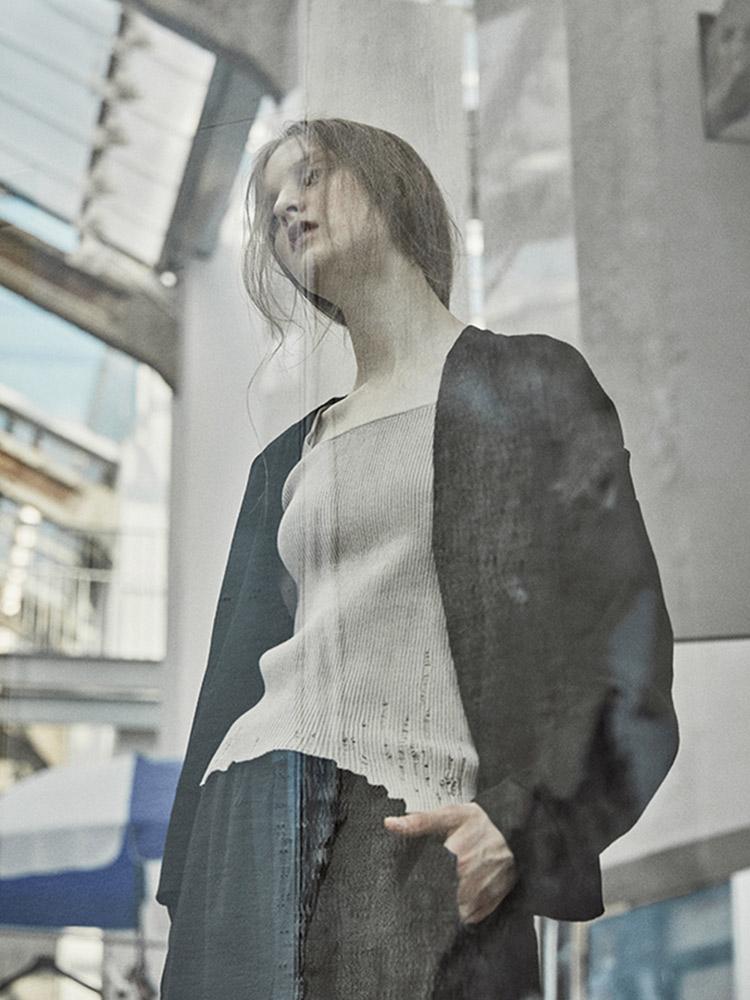 日着原创设计短外套女2018秋季新款 单排扣开衫羊毛衫V领针织衫