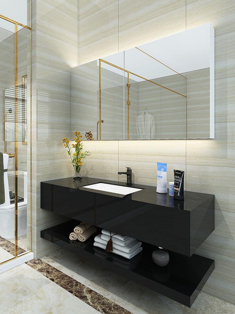 北欧双盆浴室柜组合现代简约卫生间洗手盆洗脸盆洗漱台盆柜卫浴柜