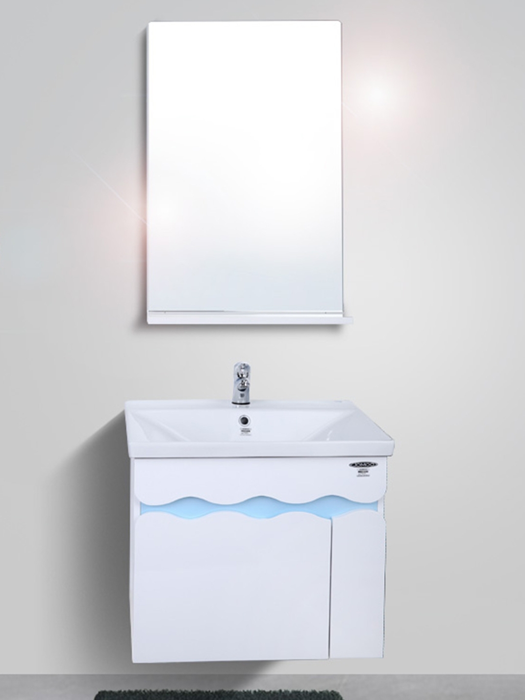 九牧卫浴北欧浴室柜组合现代简约pvc浴室柜小户型挂壁式欧式A2172