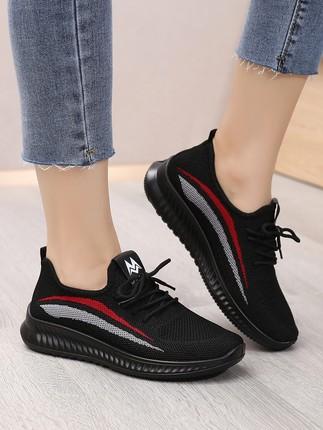 老北京布鞋女软底上班不累脚黑色工作运动休闲防滑妈妈健步鞋单鞋