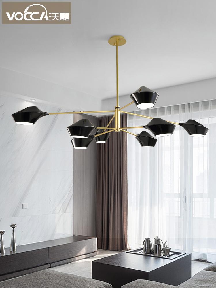 北欧风格灯具后现代简约餐厅灯创意个性服装店灯led大气客厅吊灯