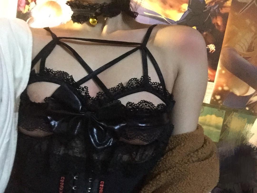 【撩汉出品】蕾丝蝴蝶结小恶魔套装睡裙 日系少女内衣