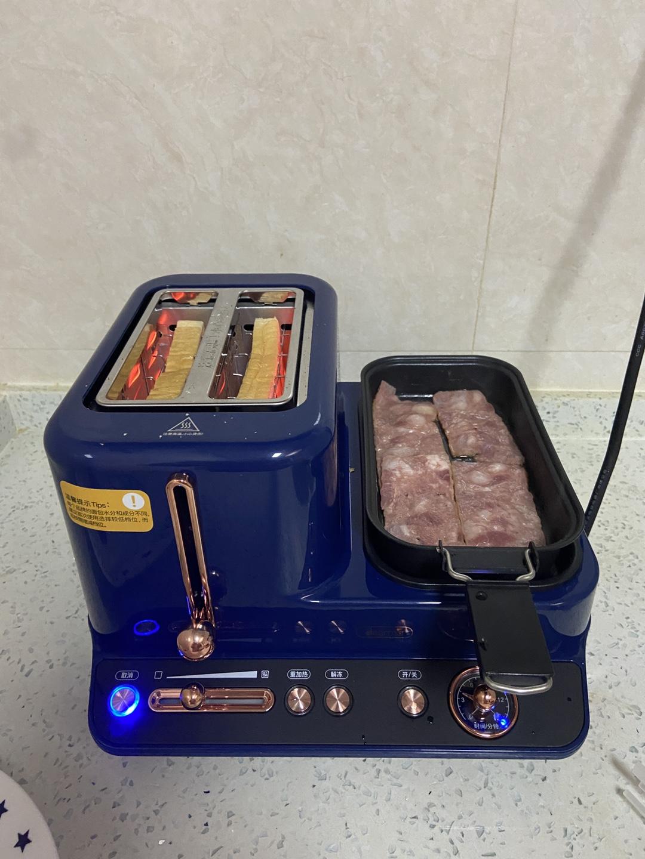 德尔玛多功能加热全自动烤早餐机评测