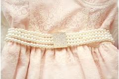 韩国,进口,镶钻,百搭,珍珠,腰链,白色