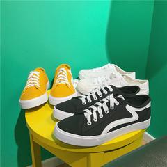夏季,帆布鞋男低帮百搭版潮鞋透气休闲男鞋,学生,板鞋,黄色