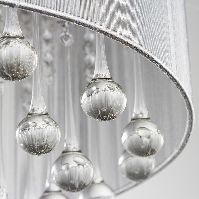 奥朵灯具现代时尚圆形LED水晶灯卧室客厅LED吸顶灯10350SQ产品展示图3