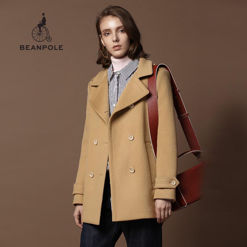 BEANPOLE滨波 女士立领双排扣大衣 BF7X30C02