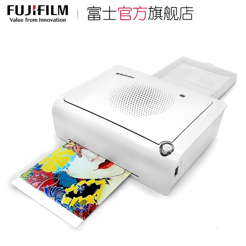 富士小俏印手机照片打印机家用小型迷你便携式WiFi无线彩色相片热升华洗照片打印机 富士smart