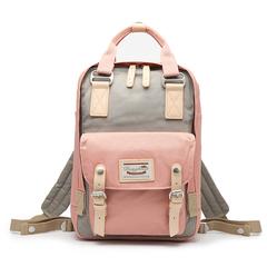 港风,包包,甜甜圈,双肩,背包,清新,简约,旅行,防水,妈咪,手提,学生,书包,粉红