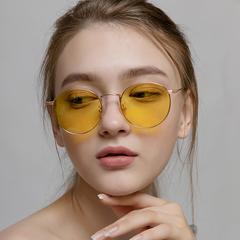 海诗迈德情侣双色金属圆框防蓝光眼镜男女时尚电脑护目镜进口镜片价格比较