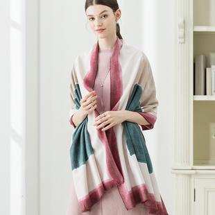 仿羊绒加厚围巾女夏季办公室空调房午休披肩毛毯两用保暖披风秋冬