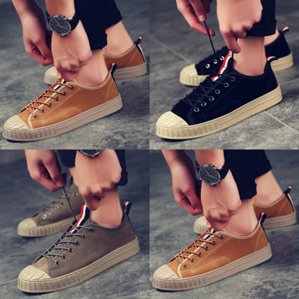 Spring new Korean shell head shoes men's sports shoes trendy retro men's shoes youth tide shoes wild