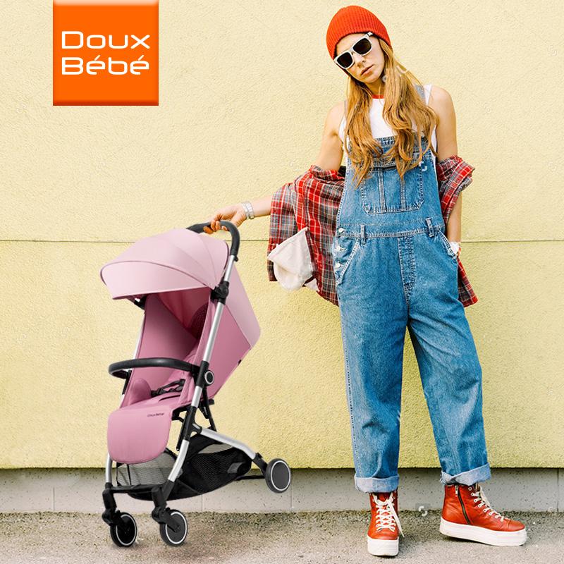 英国Douxbebe轻便婴儿推车可坐可躺折叠便携式儿童手推车宝宝伞车
