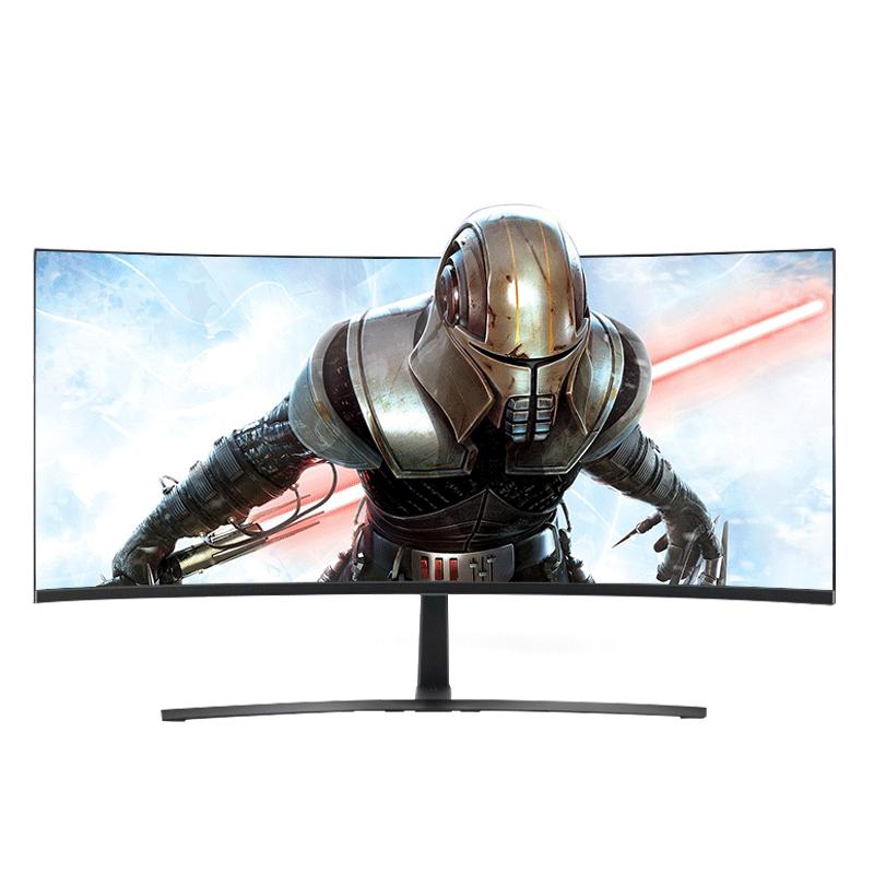 安美特35英寸21:9大屏曲面显示器电竞游戏2K液晶电脑带鱼屏幕