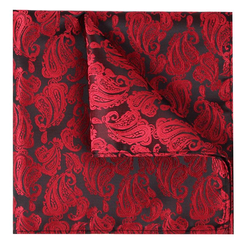 IFSONG 男士正装商务结婚西装口袋巾 红色方巾手帕 礼盒装