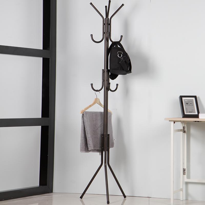 美之高衣帽架北欧衣架落地卧室铁艺简约现代家用客厅包包挂衣架子