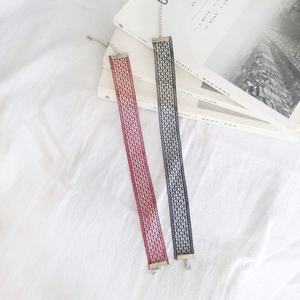 潮款时尚日韩国风镂空极简几何线条气质女服饰配饰项链锁骨链