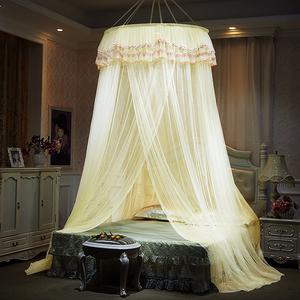 吊顶蚊帐公主风单双人圆顶家用折叠免安装1.8m/1.5/1.2/1/2.0米床