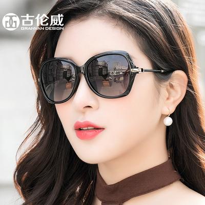 女士太阳镜2018新款开车大框墨镜女优雅圆脸方脸大脸偏光太阳眼镜
