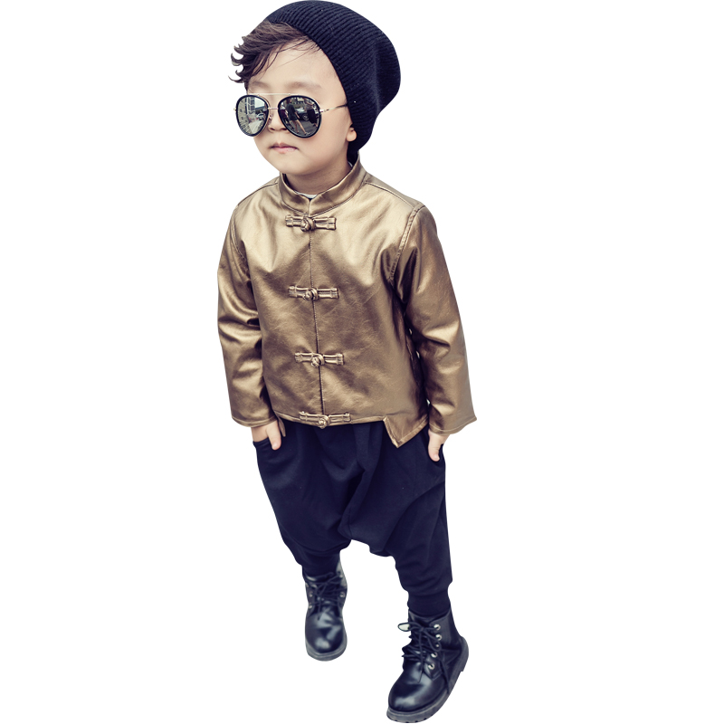 Chinese traditional outfit for children Little crooked E/yq41 leather Tang 2016 Little crooked