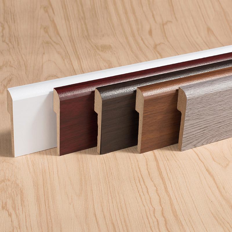 复合踢脚线实木北欧白色地脚线贴脚线木地板地角线贴踢脚板墙角线