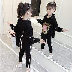 女童套装秋装2020新款韩版童装潮衣儿童时髦春秋季女孩洋气两件套