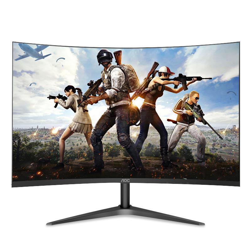 京天华盛C24B1H 23.6英寸曲面VA屏幕台式液晶显示屏AOC电脑显示器