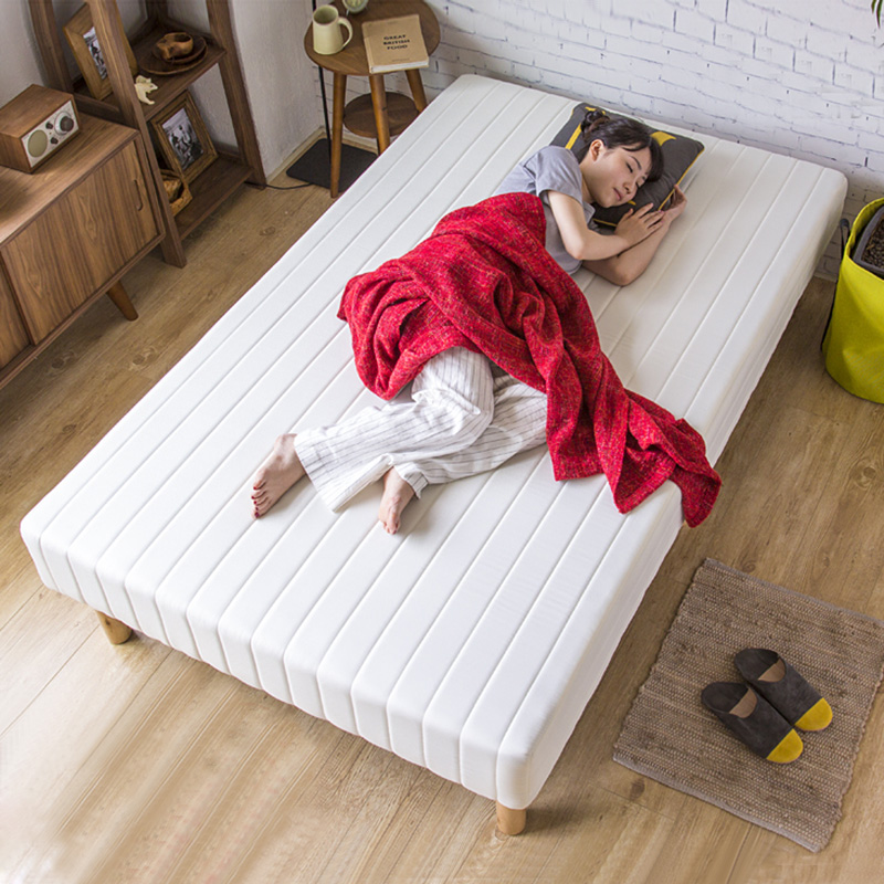 索曼简易单双人1.2m现代布艺床简约日式小户型1.5一体成人榻榻米