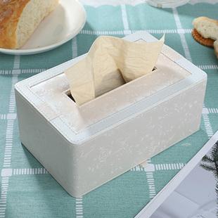 北欧皮革简约可爱车载纸巾盒抽纸盒家用客厅创意茶几餐巾盒收纳盒