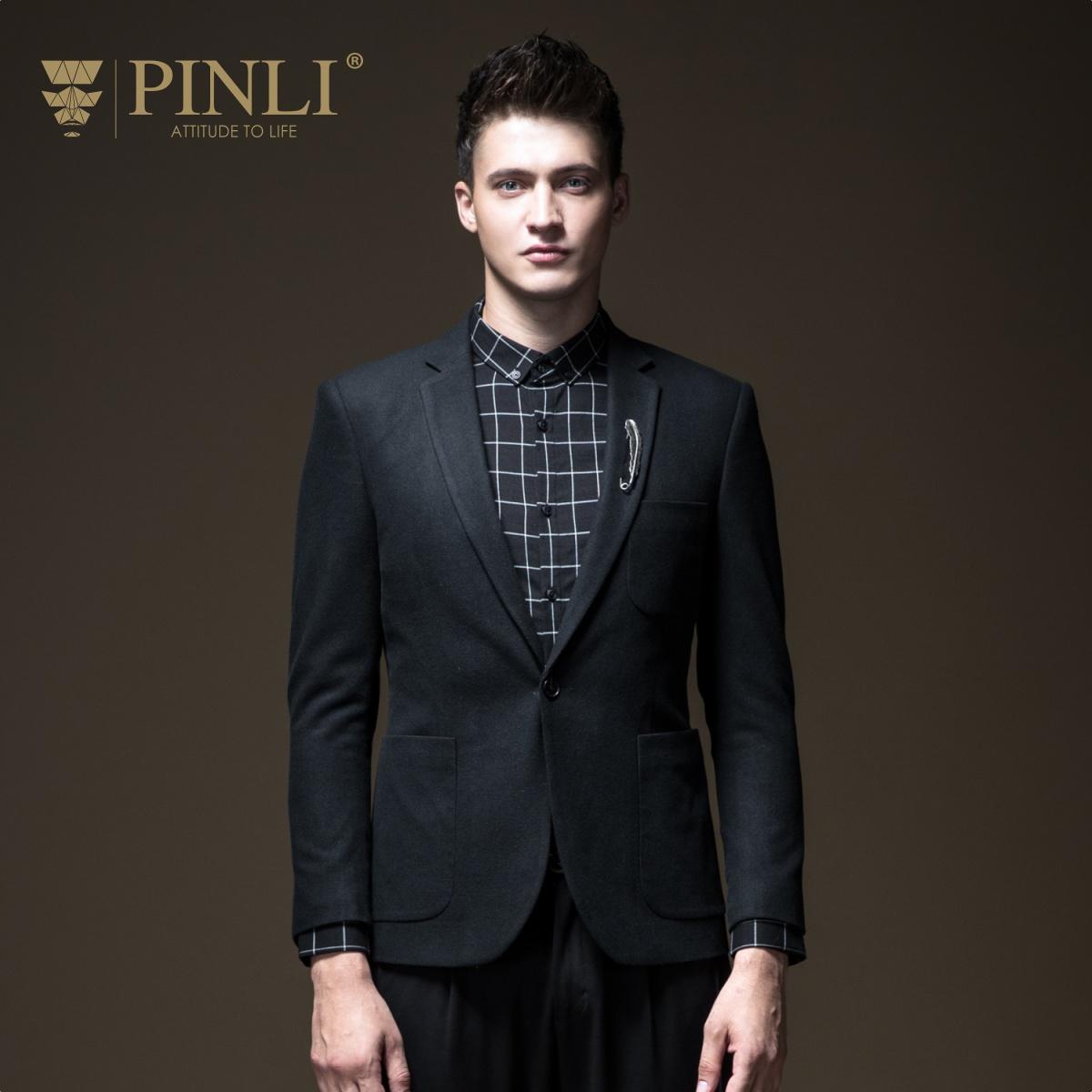 PINLI品立2018秋季新款男装便西服休闲小西装修身外套B183306481