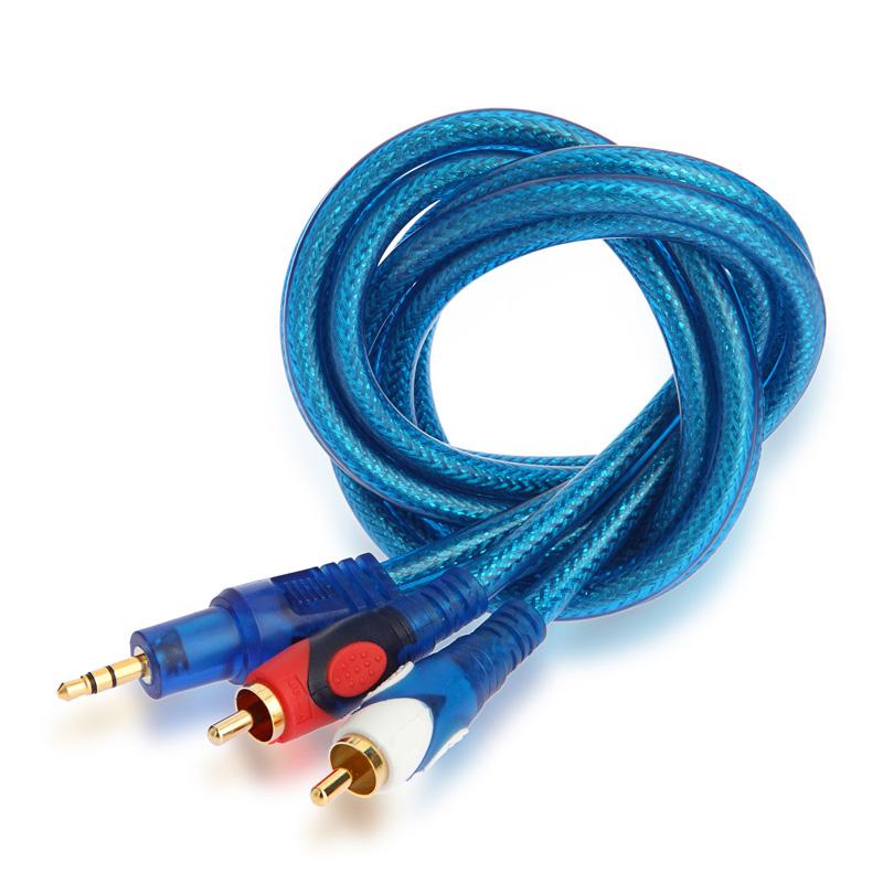 手机连接音响功放音频输入线 音响链接线 音频线 一分二 音箱