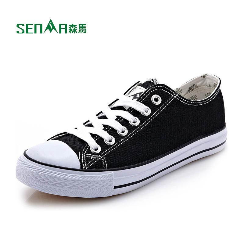 森马男鞋春季帆布鞋男休闲鞋韩版潮低帮学生板鞋情侣鞋子透气系带